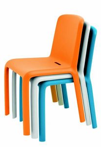 9298 Snow, Chair in colored polypropylene, stackable