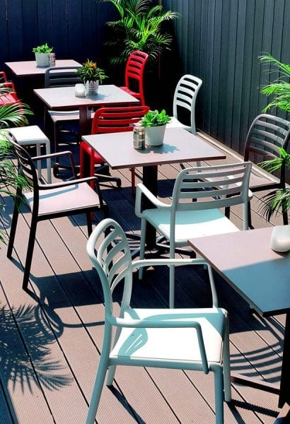 9675 Costa, Plastic chair for outdoor bar