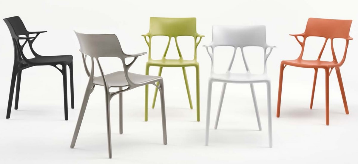 A.I., Chair in recycled material