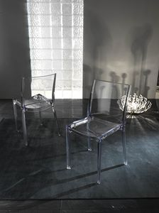 Art. 035 B-cristal, Transparent polycarbonate chair, stackable