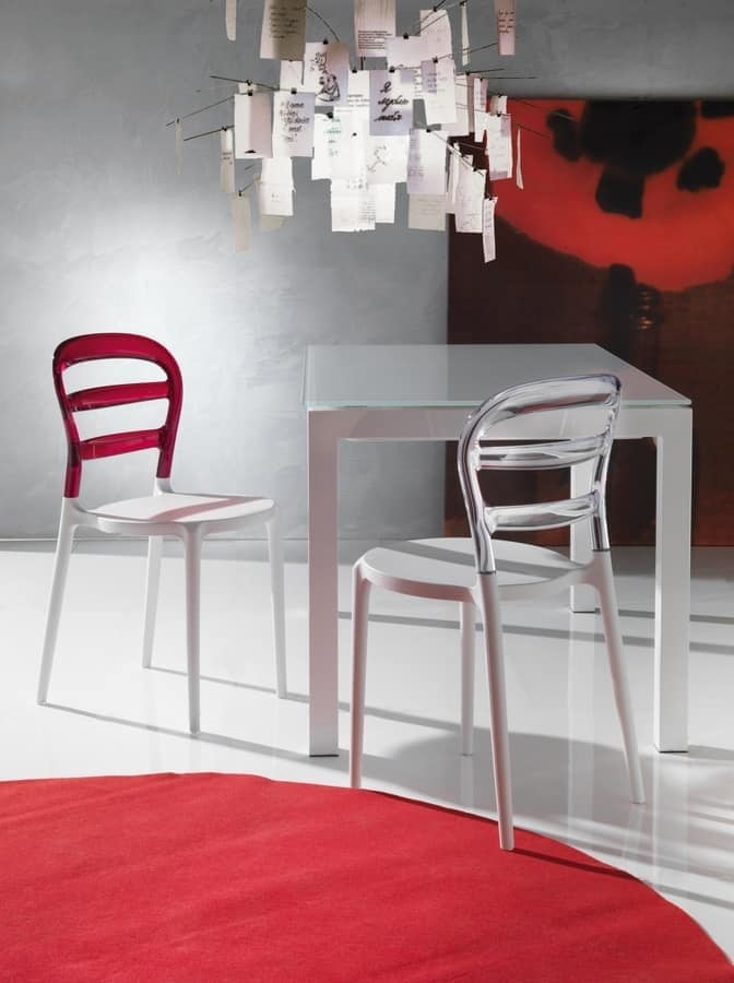 Art. 07 Deja vù, Plastic chair, for kitchen and outdoors