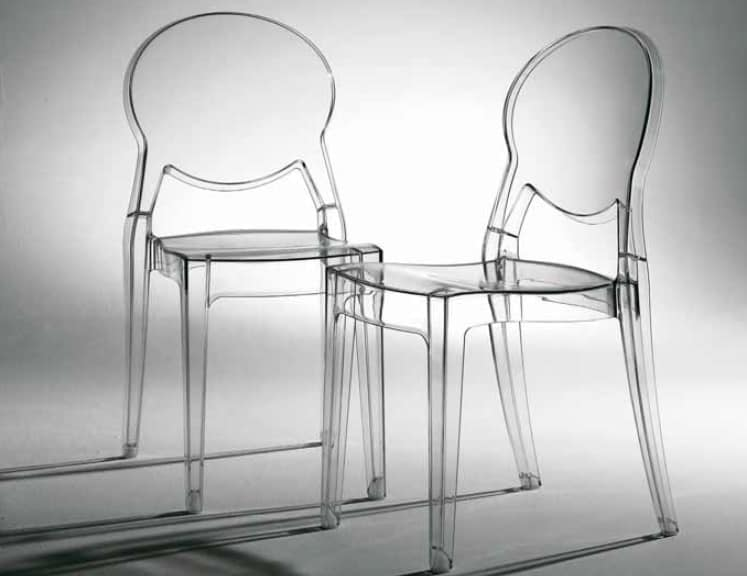 Artic, Stackable transparent chair, also for exterior use