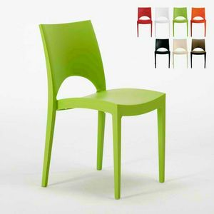 Chairs kitchen home polypropylene stacking bar PARIS Grand Soleil - S6314, Stackable polypropylene kitchen chair