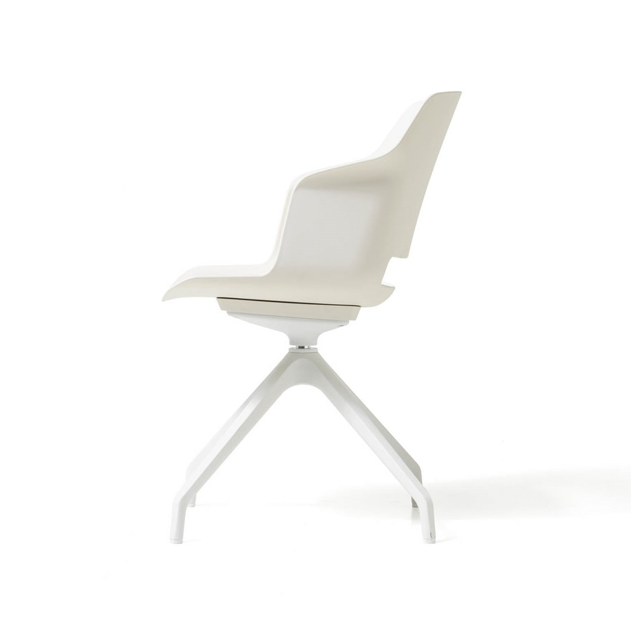 Clop 4 blades, Polypropylene chair for offices