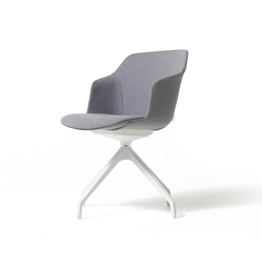 Clop 4 blades imb, Padded visitor chair