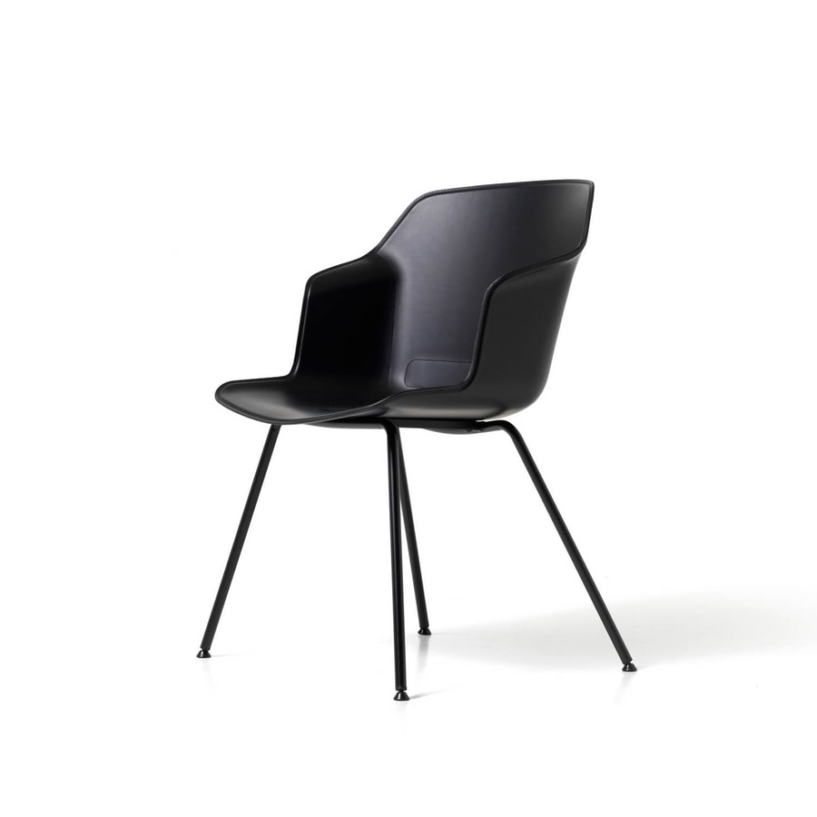 Clop 4 legs imb, Chair on 4 legs with upholstered seat