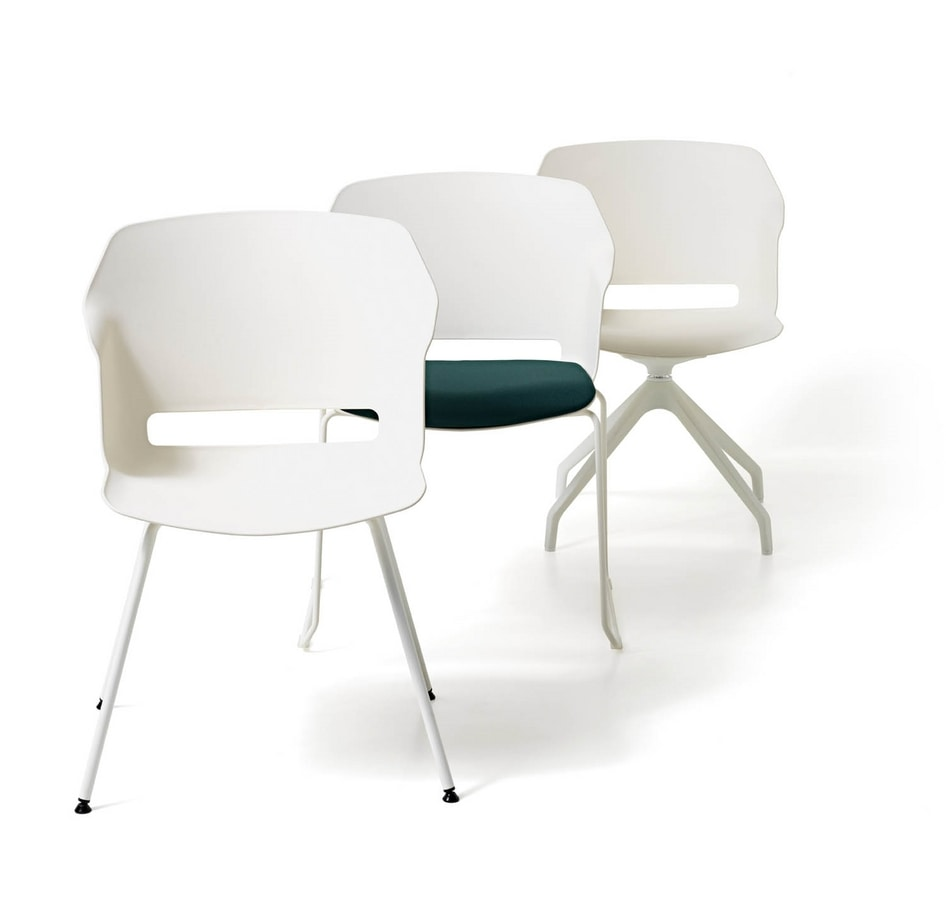 Clop 4 legs, Polypropylene chair with 4 legs