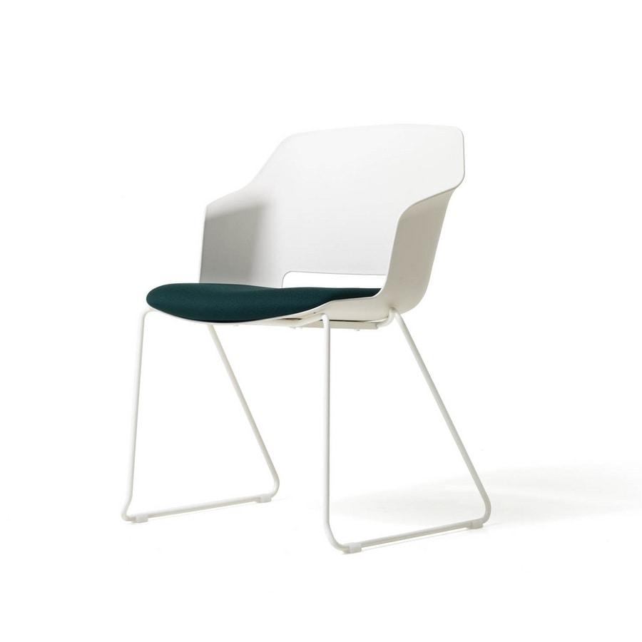 Clop sled, Polypropylene chair, sled frame