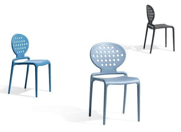 Colette, Modern chair made of technopolimery for outdoor