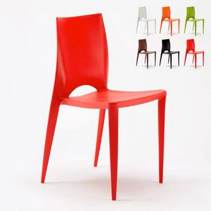 Coloured Plastic Design Chair for Garden Bars Restaurants Color SC605PP, High quality polypropylene chair