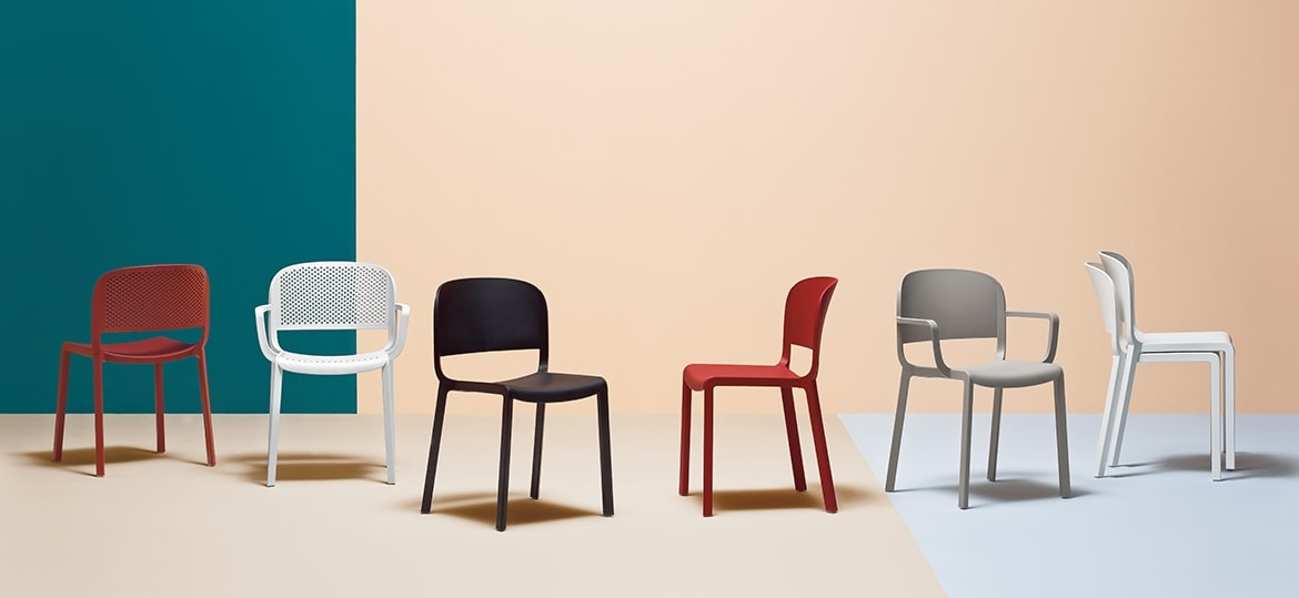 Dome, Stackable chair made of polypropylene