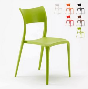 Elegant Polypropylene design chair for Kitchen Bar Restaurant and Garden Parisienne SP626PP, Polypropylene chair