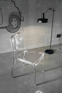 FUTURA SE800, Transparent plastic chair ideal for bars