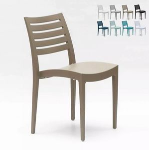 Grand Soleil Polypropylene Dining Chair Garden Outdoors Stackable Comfortable Firenze S6227, Plastic chair for outdoor