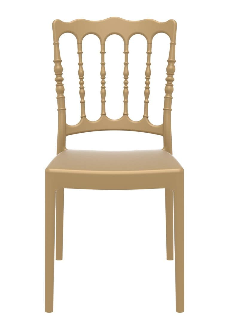 Impero, Resistant polypropylene chair, stackable, for catering