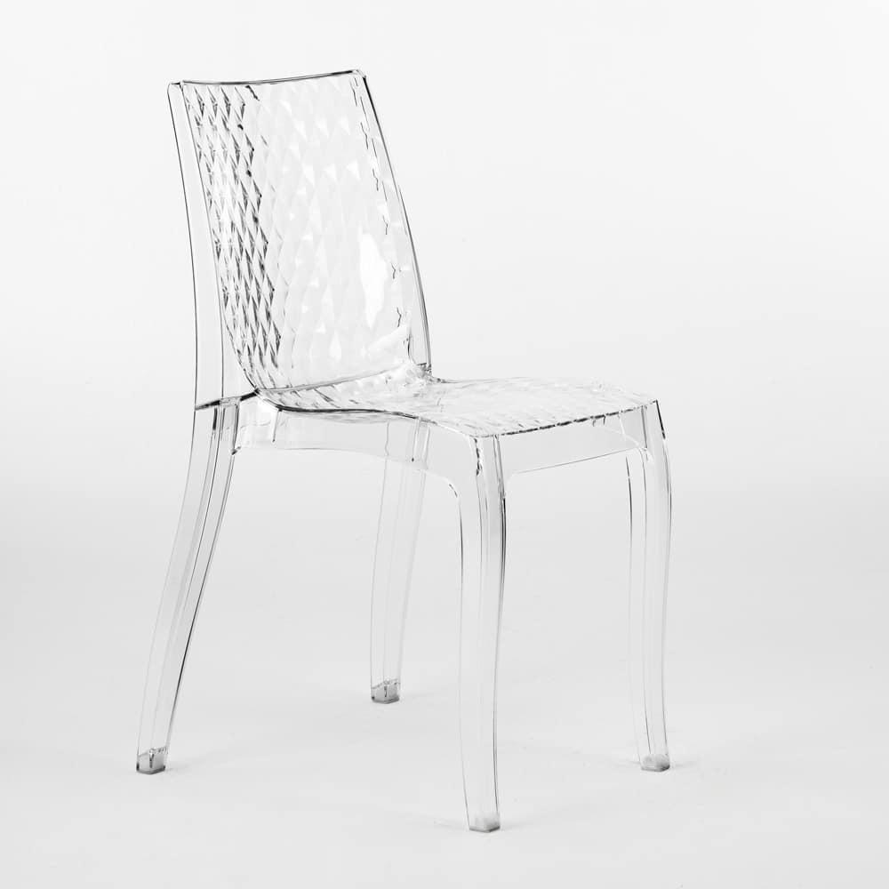 Internal transparent design chair Hypnotic - S6319TR, Transparent polycarbonate chair, for outside