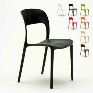Kitchen chairs house bar restaurant in colored polypropylene Design RESTAURANT - SR633PP, Kitchen chair in colored polypropylene