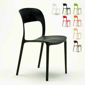 Kitchen chairs house bar restaurant in colored polypropylene Design RESTAURANT - SR633PP, Kitchen chair in colored polypropylene