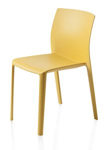 Klia, Stackable chair in polypropylene