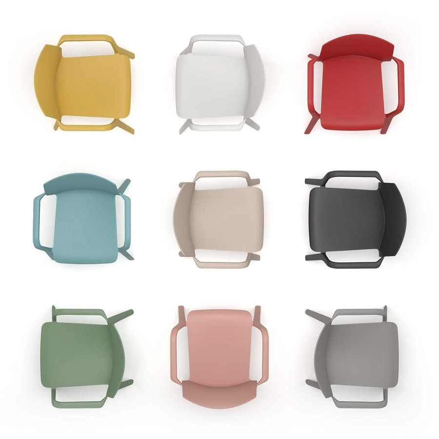 Klia imb, Stackable chair with fixed or removable padding
