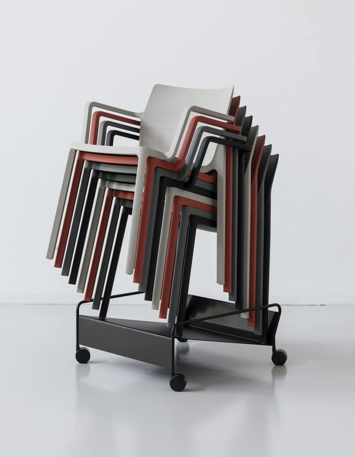 LP stackable, Design chair in polypropylene, stackable and robust