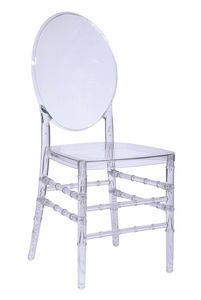 Luigi, Stackable chair in pure polycarbonate