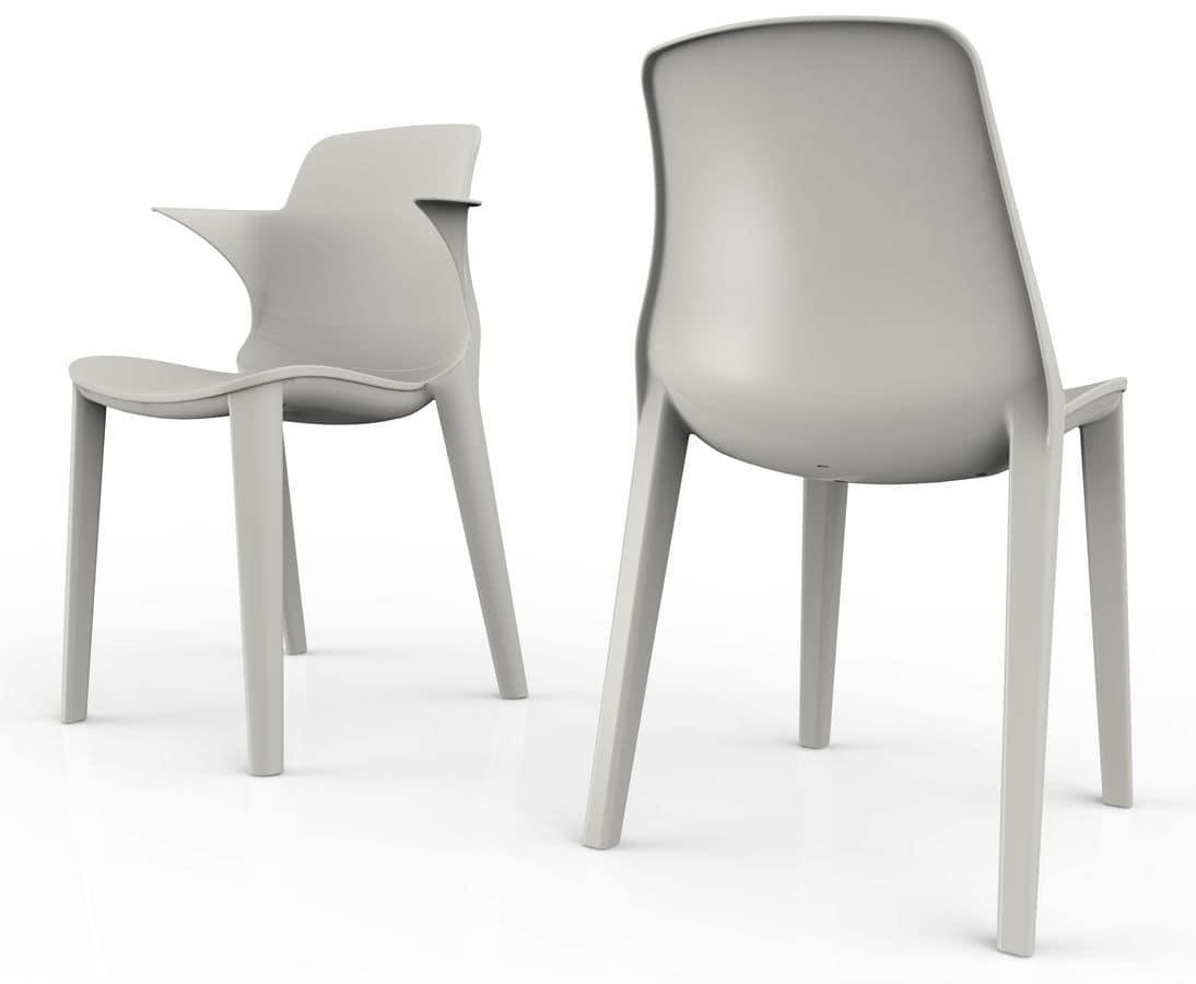 Lyssa - S, Chair in polypropylene UV resistant, stackable