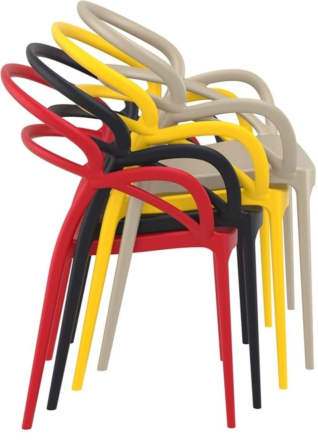 Marion, Plastic design chair, for bars and restaurants