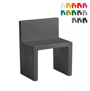 Modern design chair for home premises and garden SLIDE Angolo Retto SD AGR050, Plastic outdoor chair
