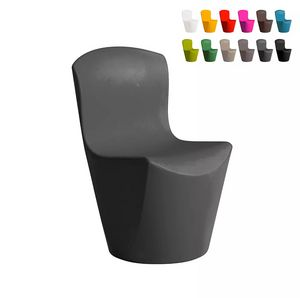 Modern design chair for kitchen bar restaurant and gardens SLIDE Zoe SD ZOE080, Polyethylene chair for indoor and outdoor