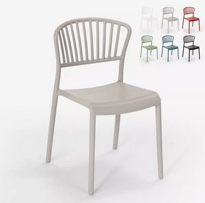 Modern design chair in polypropylene and metal for kitchen cafés restaurant outdoors Vivienne SC781, Polypropylene chair for indoor and outdoor use