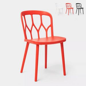 Modern design chairs for kitchen bar and garden made from alchemy polypropylene Flow SC729PP, Chair with a fresh and dynamic design