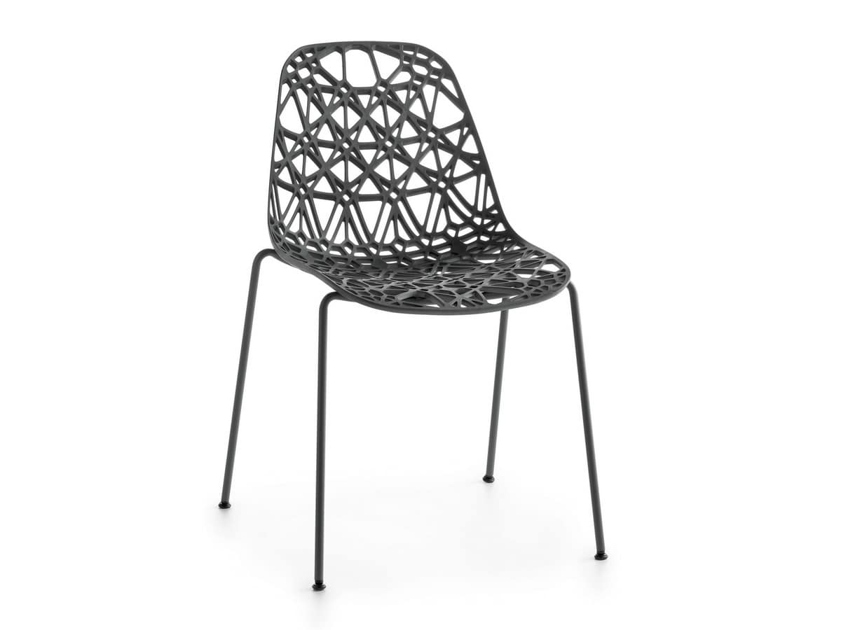 Nett R/4L, Stackable chair for outdoor use