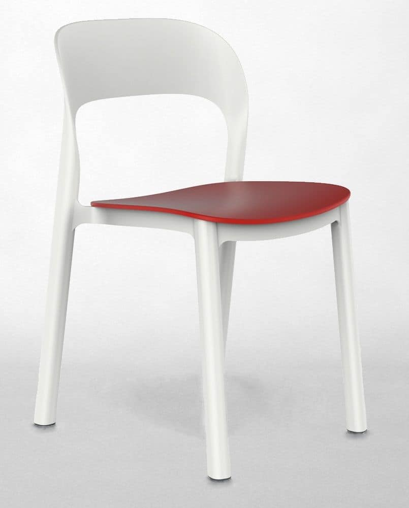 Opal - S, Stackable chair, for bars and hotels, UV resistant