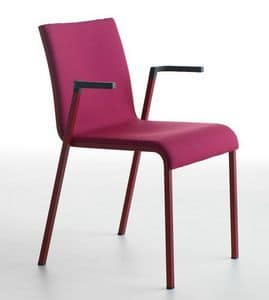 Persia P/FU, Stackable chair with armrests