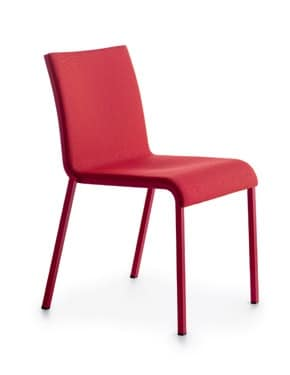 Persia R/FU, Upholstered stackable chair in plastic
