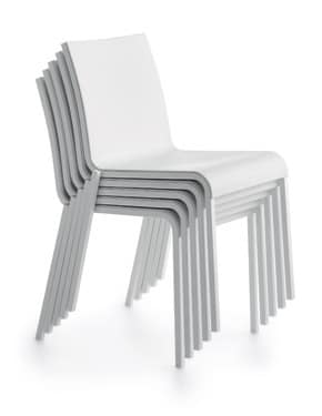 Persia R/PU, Plastic stackable chair