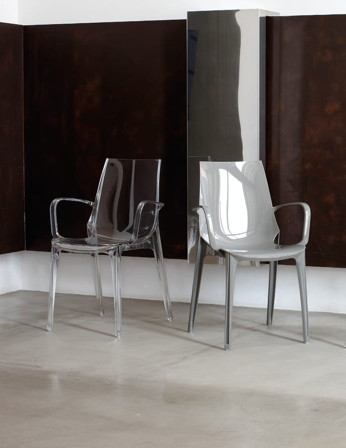 PL 2654, Polycarbonate chair with armrests