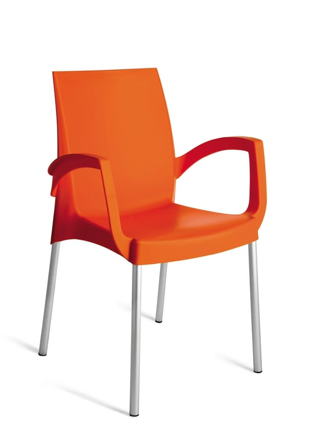 PL 3640, Stackable polypropylene chair for outdoor use