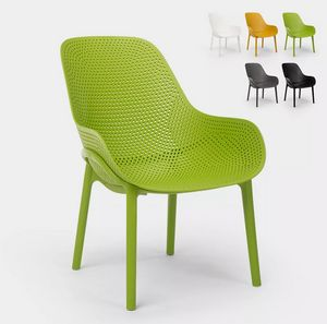 Polypropylene Modern design chairs for kitchen and bar Majestic SC756PP, Sturdy polypropylene chair