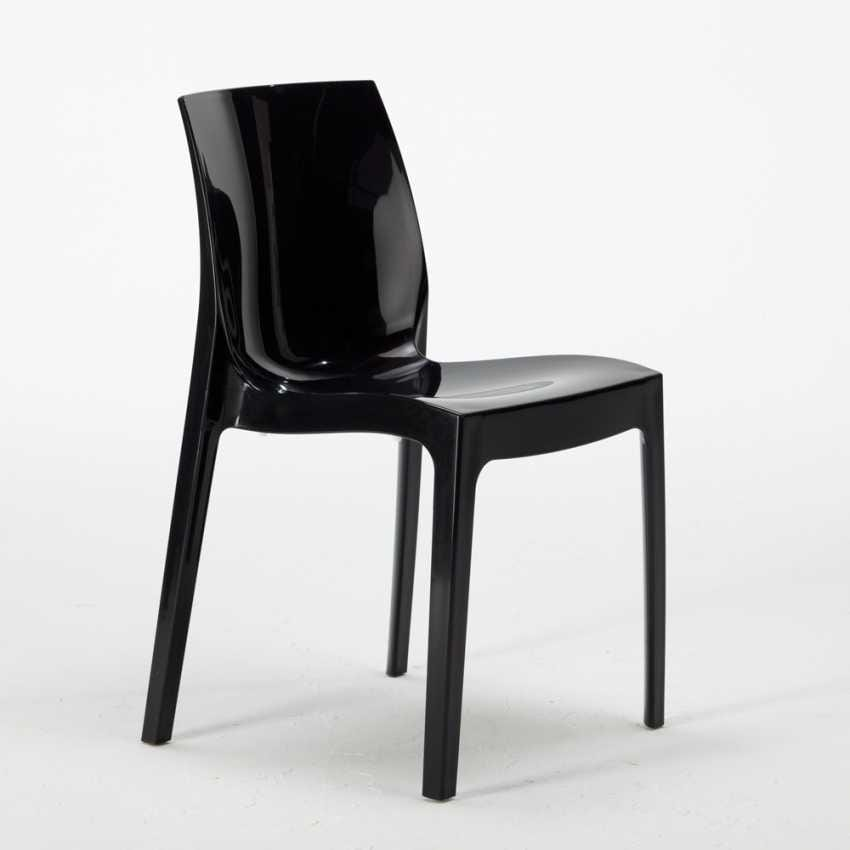 Chair In Shiny Plastic Stackable And