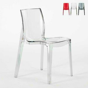 House transparent bar chair FEMME FATALE - S6317TR, Fireproof chair, made of top quality plastic, stackable