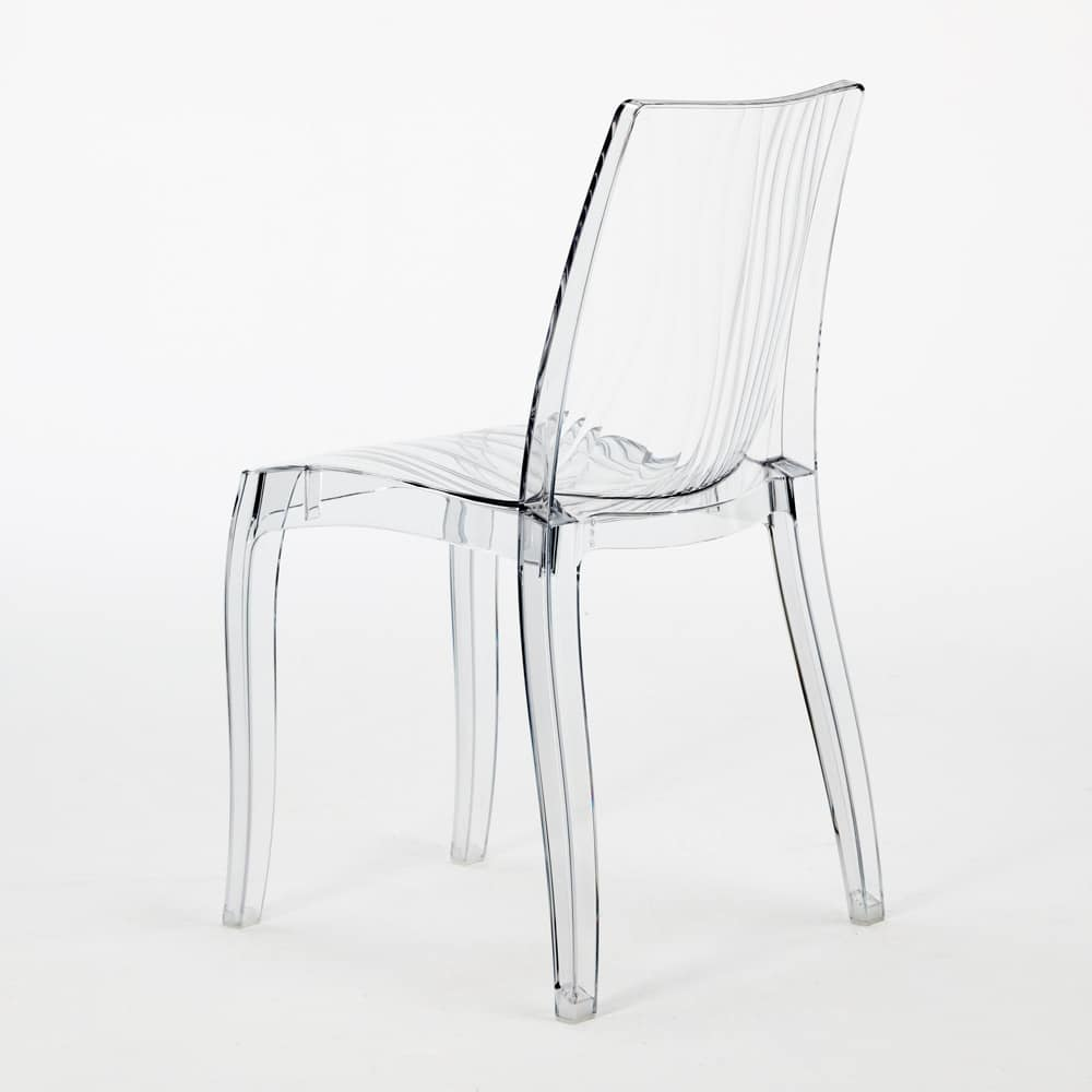 Grand soleil chair in transparent polycarbonate Dune – S6327, Stackable chair made of translucent polycarbonate, for indoor and outdoor