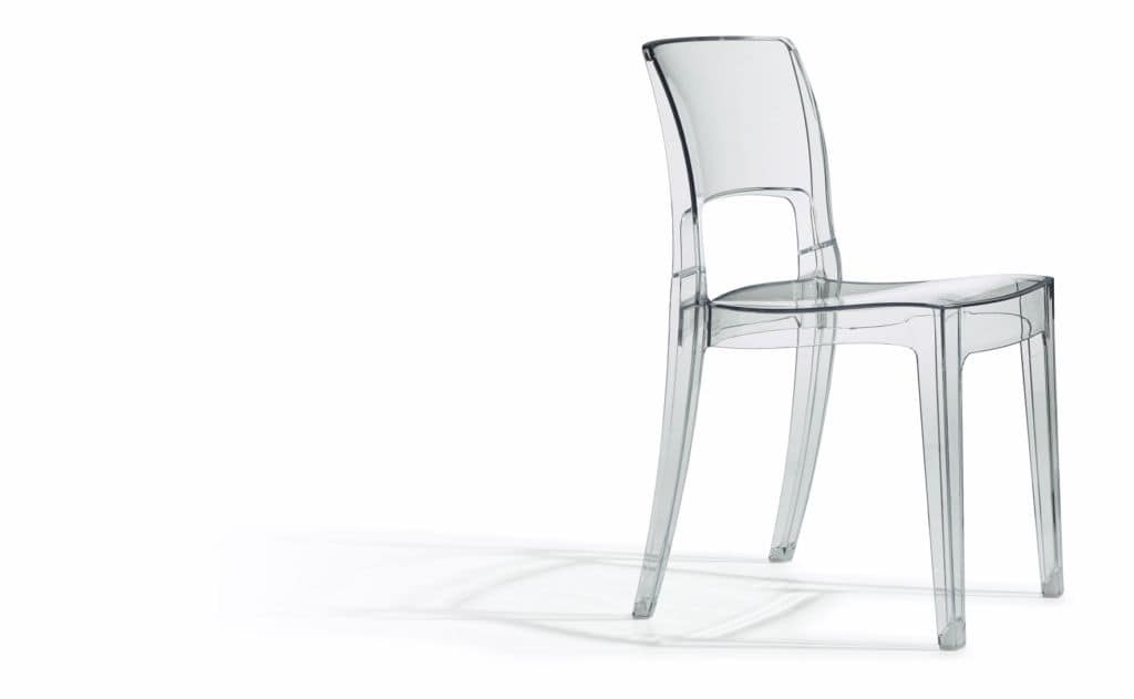 SE 2352.TR, Stackable trasparent plastic chair ideal for bars