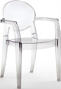 SE 2357, All polycarbonate chair, for pizzerias and bars