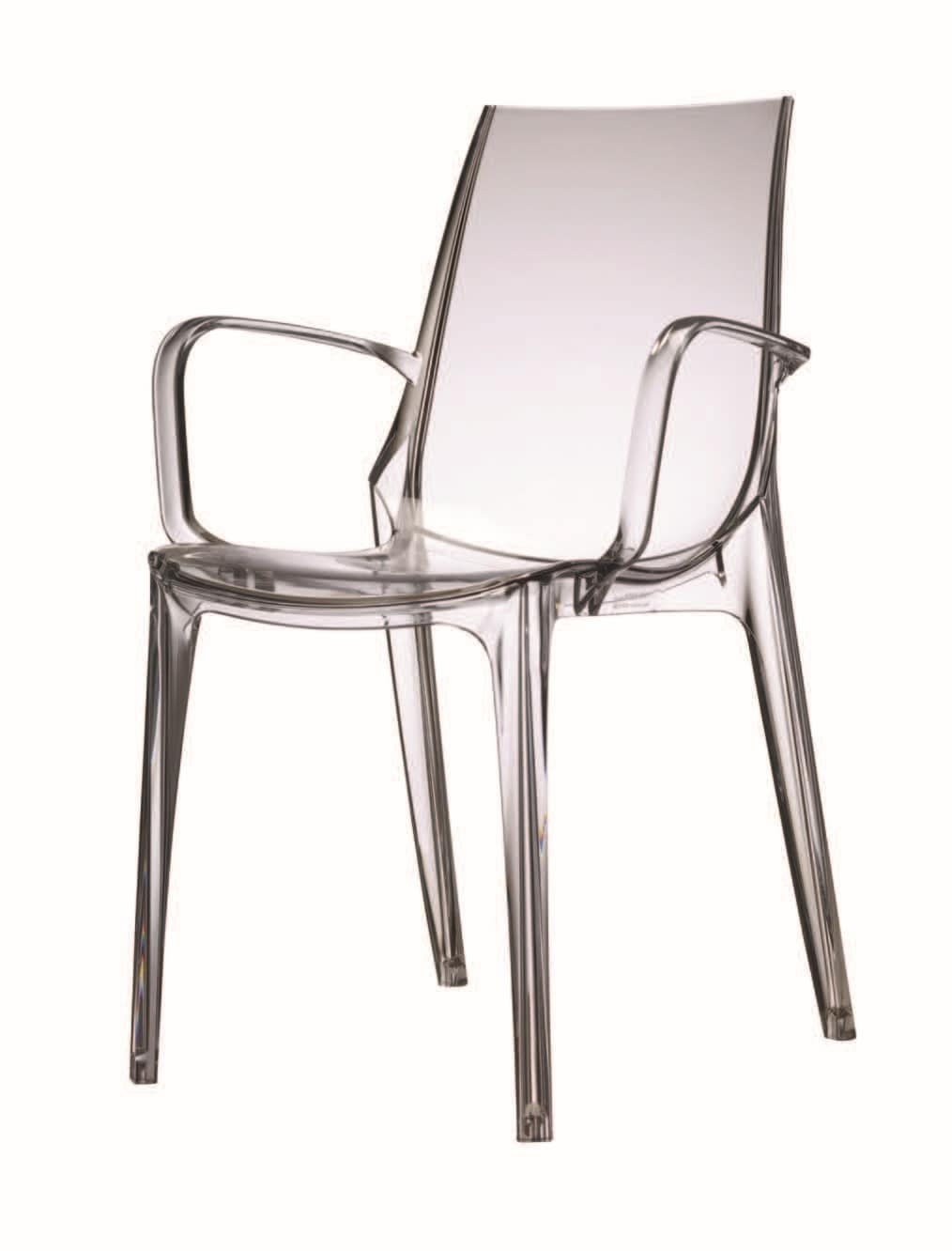 SE 2652, Chair made of polycarbonate, with non-slip feet