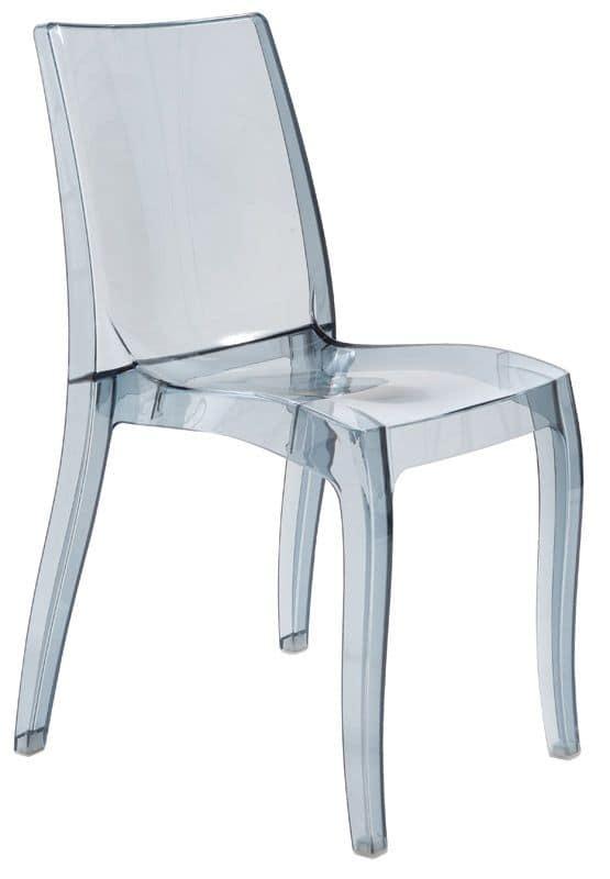 SE 6326, Lightweight chair made of transparent polypropylene, stackable