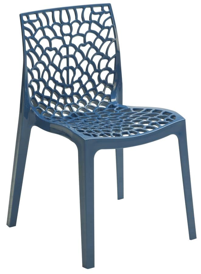 SE 6316, Polypropylene perforated chair for bars and restaurants