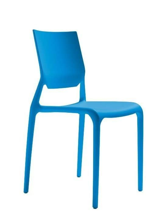 Sirio, Technopolymer chair, stackable, several colours