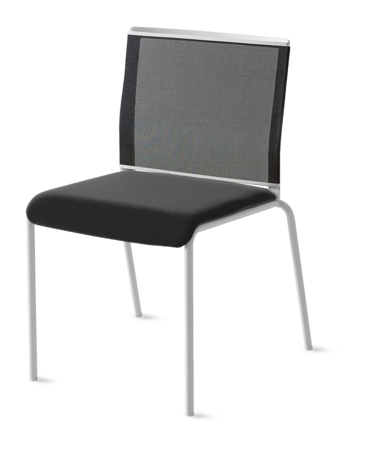 Teckel, Chair with mesh backrest